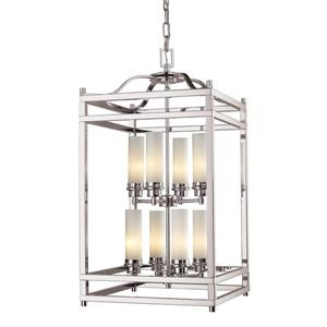 Z-Lite Altadore 8-Light Pendant - 15-in  - Brushed Nickel