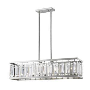 Z-Lite Mersesse 5-light Kitchen Island Light - Nickel