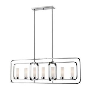Z-Lite Aideen 7-light Kitchen Island Light - Chrome