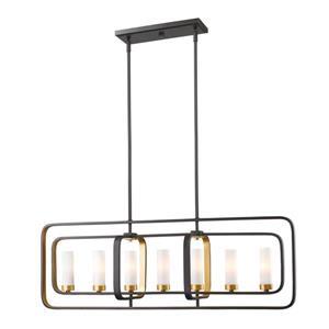 Z-Lite Aideen 7-light Kitchen Island Light - Bronze Gold