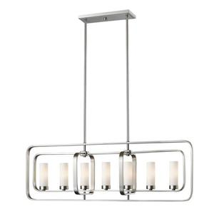 Z-Lite Aideen 7-light Kitchen Island Light - Nickel