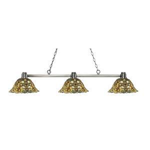 Z-Lite Park  3-light Kitchen Island Light - Nickel