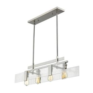 Z-Lite Gantt 4-light Kitchen Island Light - Nickel