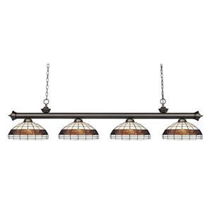 Z-Lite Riviera 4-light Kitchen Island Light - Olde Bronze
