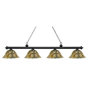 Z-Lite Riviera 4-light Kitchen Island Light - Matte Black
