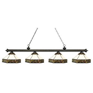 Z-Lite Riviera 4-light Kitchen Island Light - Golden Bronze