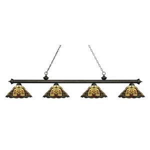 Z-Lite Riviera 4-light Kitchen Island Light - Golden Bronze