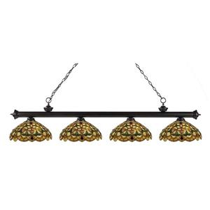 Z-Lite Riviera 4-light Kitchen Island Light - Bronze
