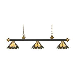 Z-Lite Riviera 3-light Kitchen Island Light - Bronze/Satin Gold
