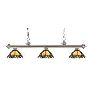 Z-Lite Riviera 3-light Kitchen Island Light - Brushed Nickel