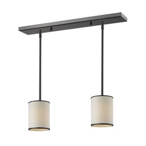 Z-Lite Cameo 2-light Kitchen Island Light - Bronze