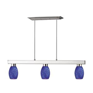 Z-Lite Players 3-light Kitchen Island Light - Nickel