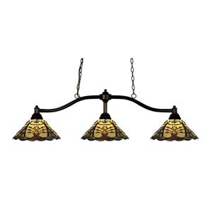 Z-Lite Chance 3-light Kitchen Island Light - Bronze