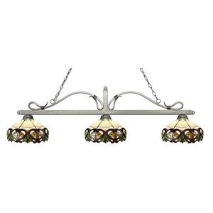 Z-Lite Melrose 3-light Kitchen Island Light - Silver