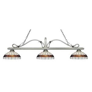Z-Lite Melrose 3-light Kitchen Island Light - Silver