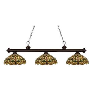 Z-Lite English Ivy 3-light Kitchen Island Light - Bronze