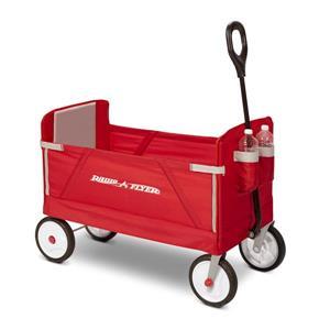 Radio Flyer Kid Fold Wagon - 3-in-1 - Red