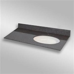 The Marble Factory 49-in x 22-in Bathroom Vanity Top with Oval Sink - Mystique