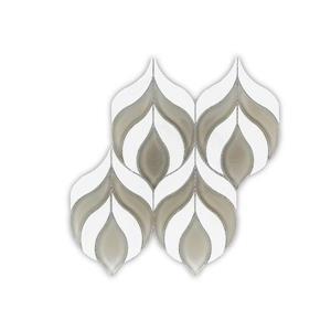 Jl Tile Blooming Flower Marble Tile Grey White 5 Box