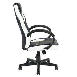 FurnitureR Office/Gaming Chair with Casters - Black/White
