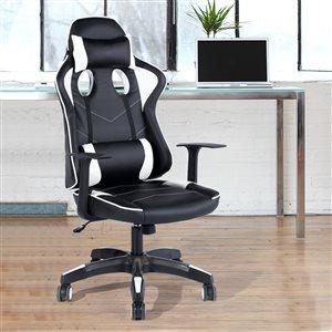 FurnitureR Ergonomic PU Leather Racing Gaming Chair