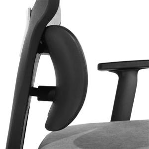 FurnitureR High Back Office Chair and Casters - Grey