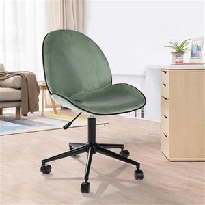 FurnitureR Petanquer FurnitureR Office Chair - Casters - Cactus Velvet