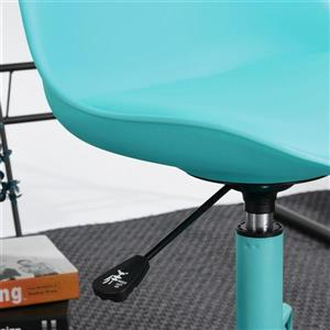 FurnitureR Office Chair Up-down Adjustable - Turquoise