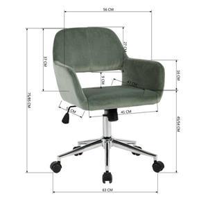 FurnitureR Office Chair - Velvet Cactus