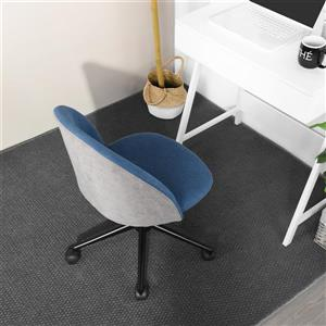 FurnitureR Office Chair - Blue Fabric and Grey Back