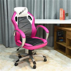 FurnitureR Racing Game Office Chair - Pink/Black/White