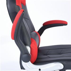 FurnitureR Gaming Office Chair - Black and Red