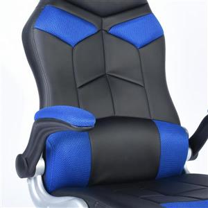 FurnitureR Gaming Office Chair - Black and Blue