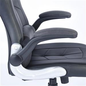 FurnitureR Solid Black Game Racing Office Chair