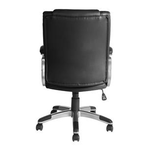 FurnitureR Boss Office Chair - Black and Chrome
