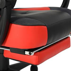 FurnitureR Lin Leasure Racing Game or Office Chair - Black and Red