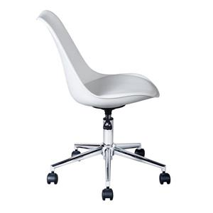FurnitureR Higos Office Chair - Height adjustable - Faux Leather  White