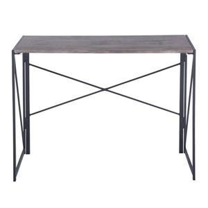 FurnitureR Harper foldable computer table - Wood and Metal