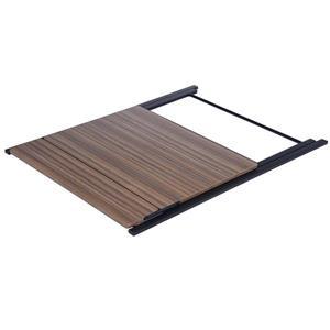 FurnitureR Megan Folding Table for Computer - Black Powder Coating