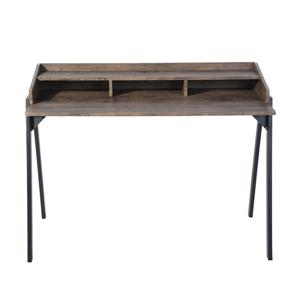 FurnitureR Booker Computer Desk with compartments - Brown