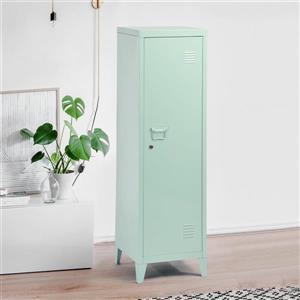 FurnitureR Councilbluffs Metal Cabinet/Locker -  Green - 54.1-in