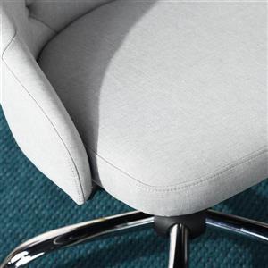 FurnitureR Computer Task Chair Adjustable Hamiltion, Light Grey