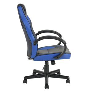 FurnitureR Office/Gaming Chair with Casters - Black/Blue