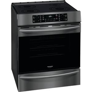 Frigidaire Gallery 30-in 5-Burner 5.6-cu ft Steam and Self-Cleaning Convection Air Fry Freestanding Gas Range (Fingerprint-Resistant Black Stainless Steel)