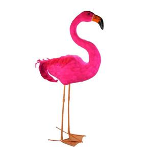 """Northlight Standing Hot Pink Feathered Flamingo Decoration - 39.5"""""""