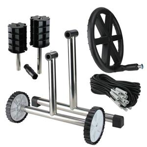 Northlight Pool Cover Reel System with Steel Frame For 4'' Tubes