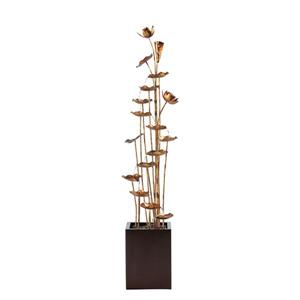 "Hi-Line Gift Lotus Garden Fountain - Metal Gold - 60.2"""