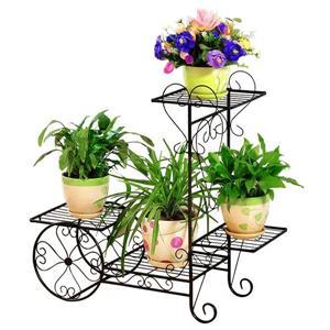Hi-Line Gift Plant Stand - 4 Shelves - Black/Bronze