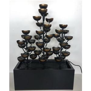 Hi-Line Gift Multi Level Cups Fountain - Bronze