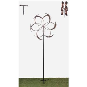 Hi-Line Gift Bistratal Flower Windmill - Cooper